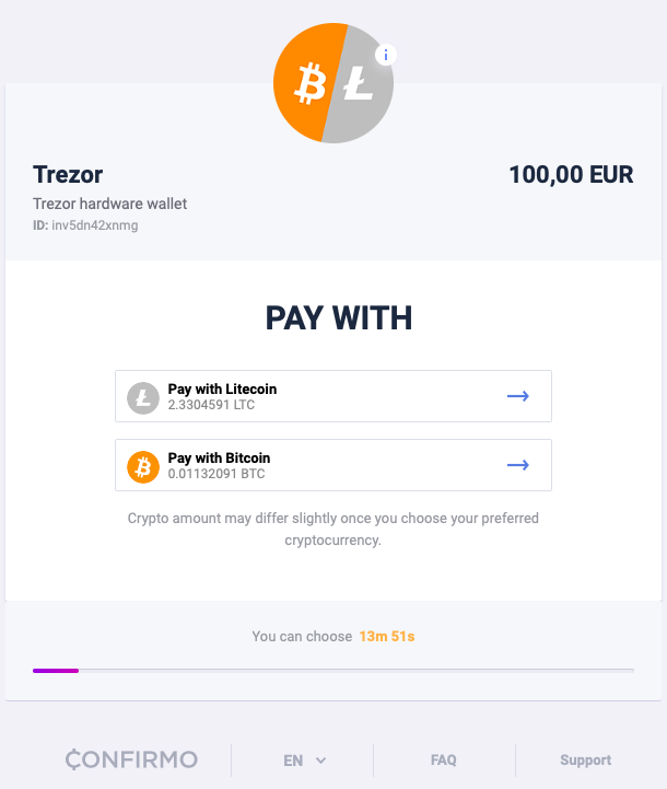 Customers can decide, how to pay